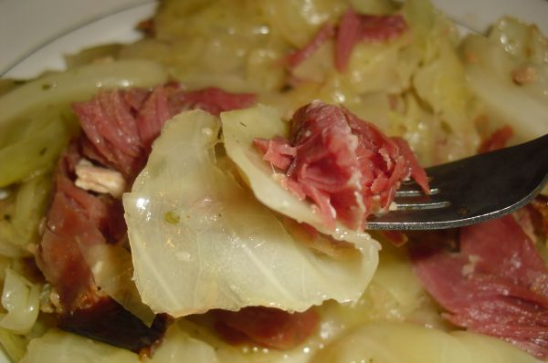 CABBAGE AND SMOKED PORK SHANKS