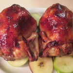 Apple Stuffed Glazed Cornish Hens