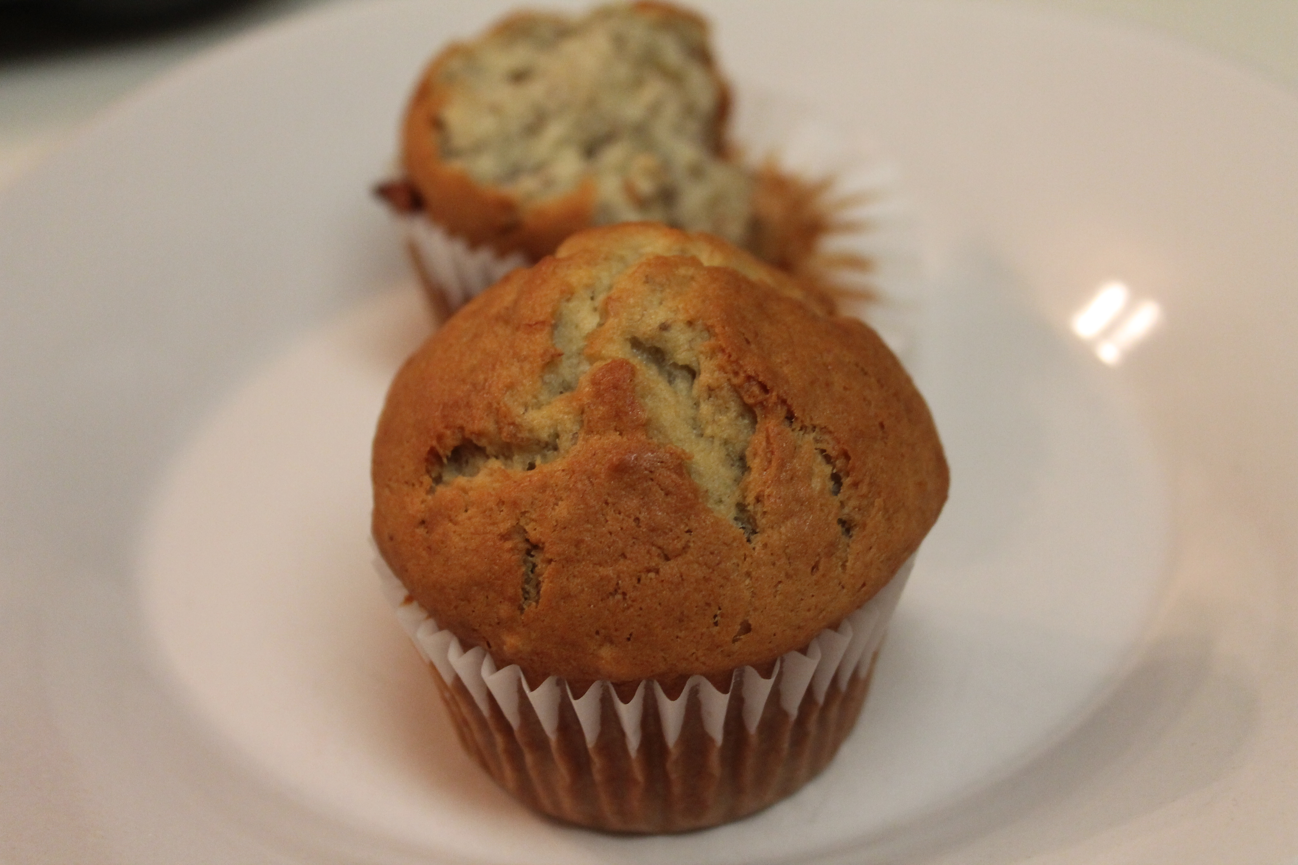 get rid of those ripe bananas! Try these moist fluffy banana muffins ...