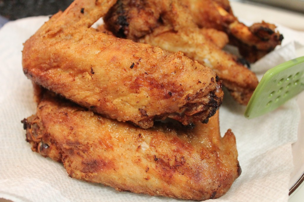 Crispy, deep fried turkey wings