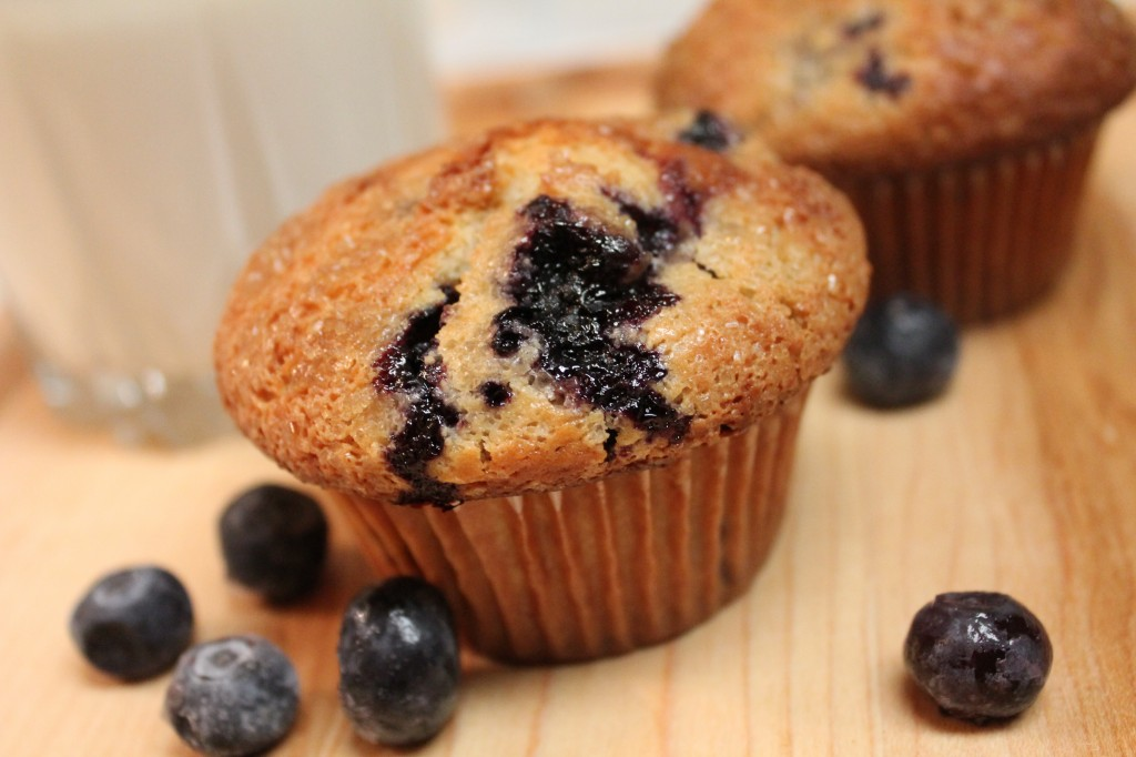 These warm and fluffy blueberry muffins are filled with cheesecake pieces and topped with sugar