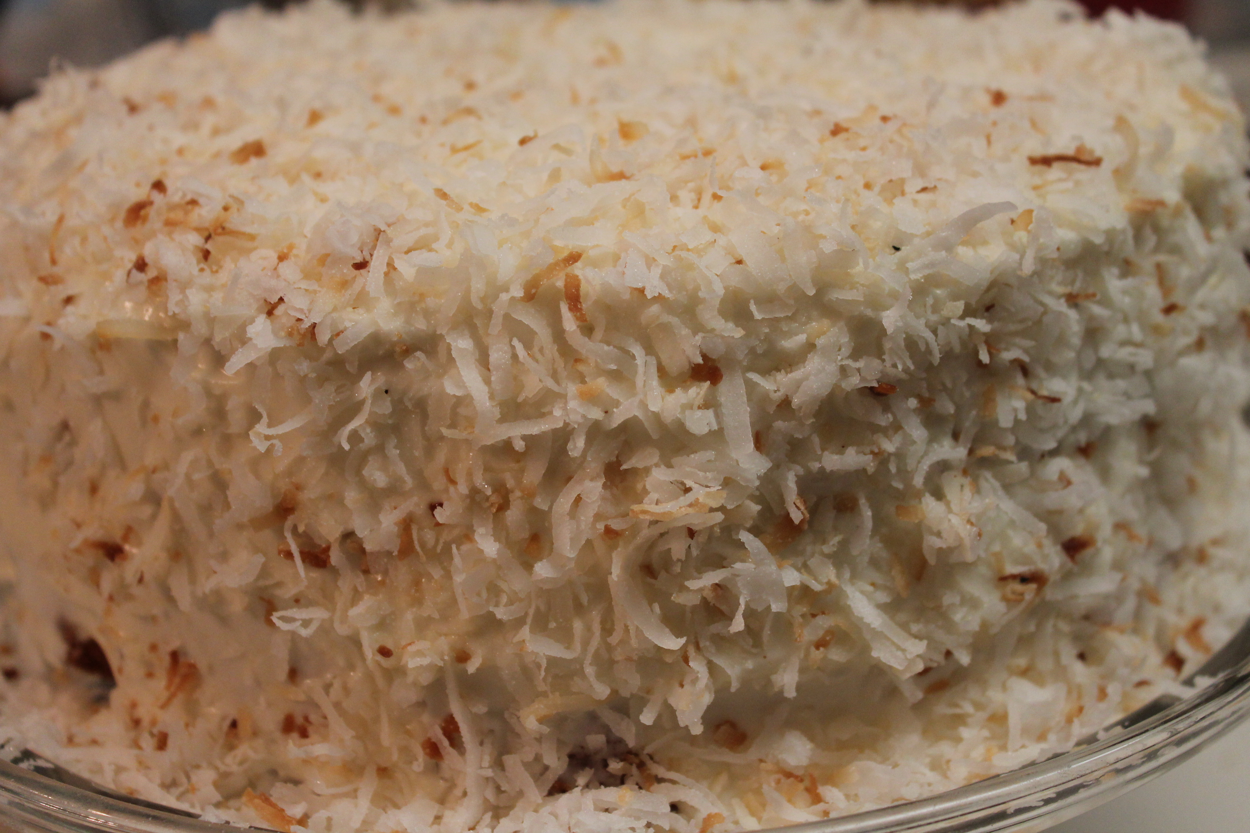 Moist and Fluffy Coconut Cake