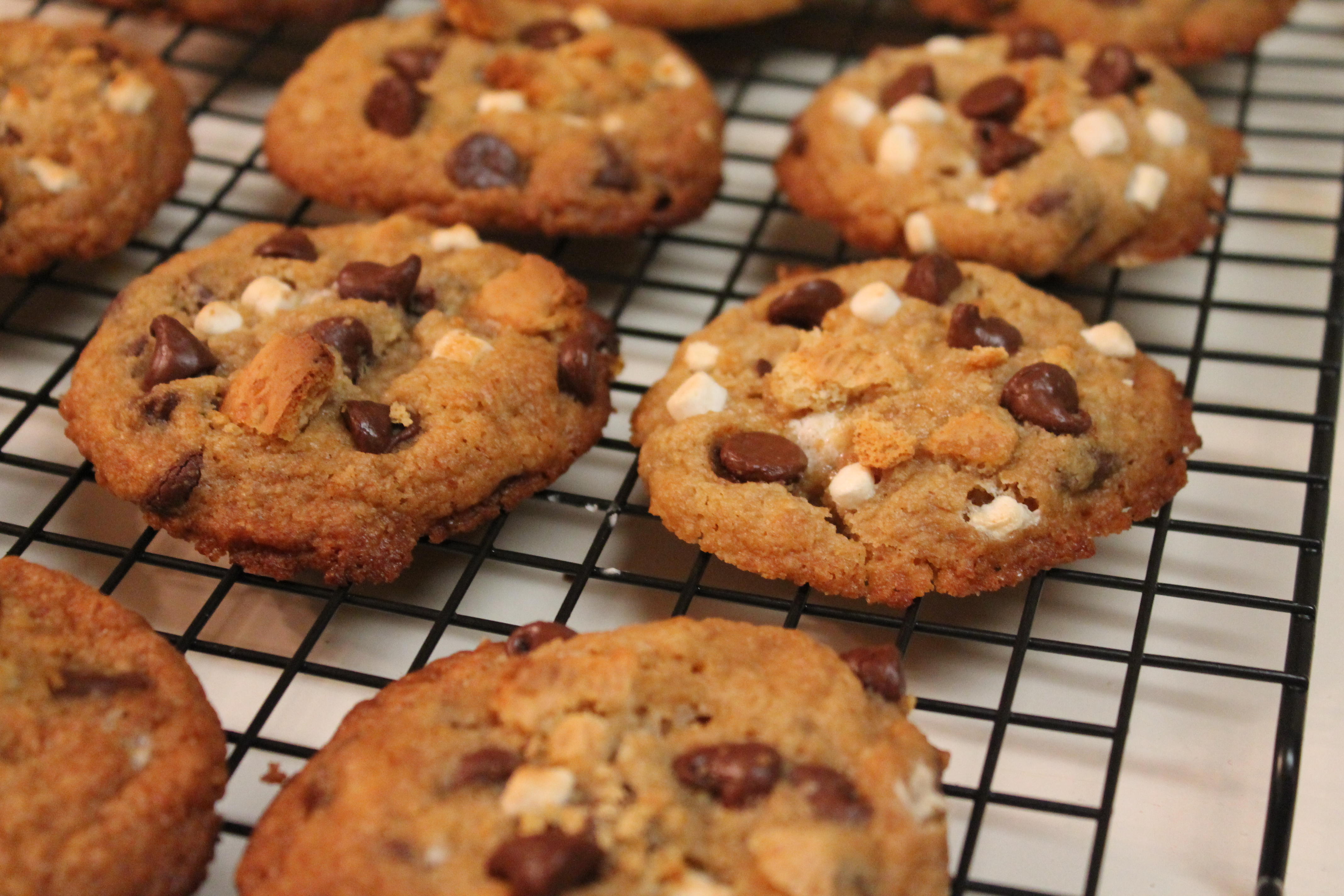 Soft Baked S'more cookies
