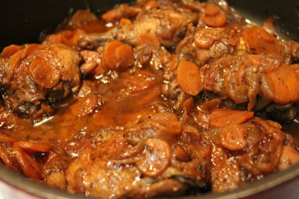 delicious brown stewed chicken recipe