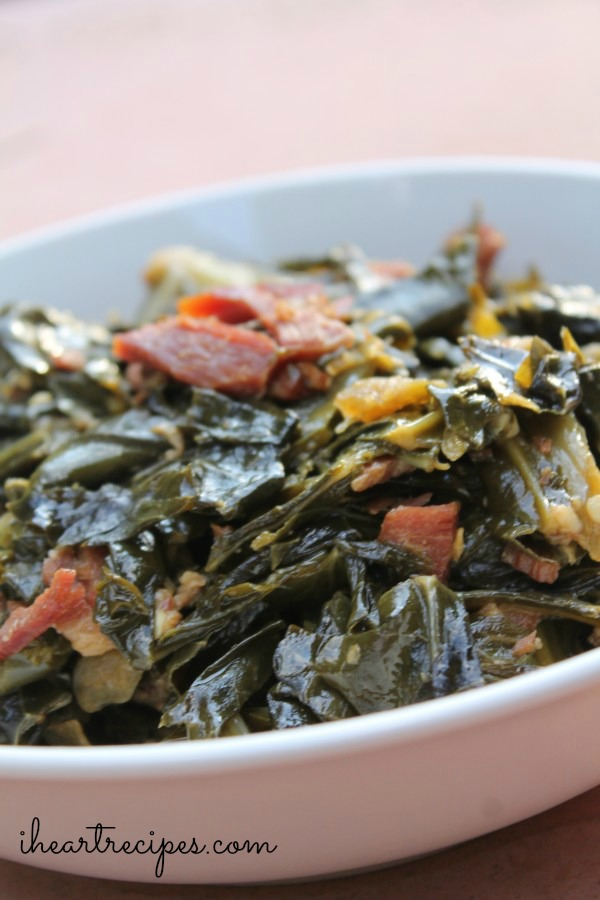Serving Collard Greens with bacon is a great way to get your kids to eat their greens.