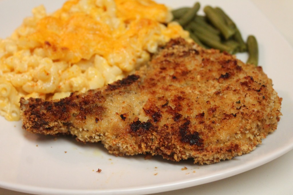 Tender juicy pork chops, seasoned and breaded to perfection!