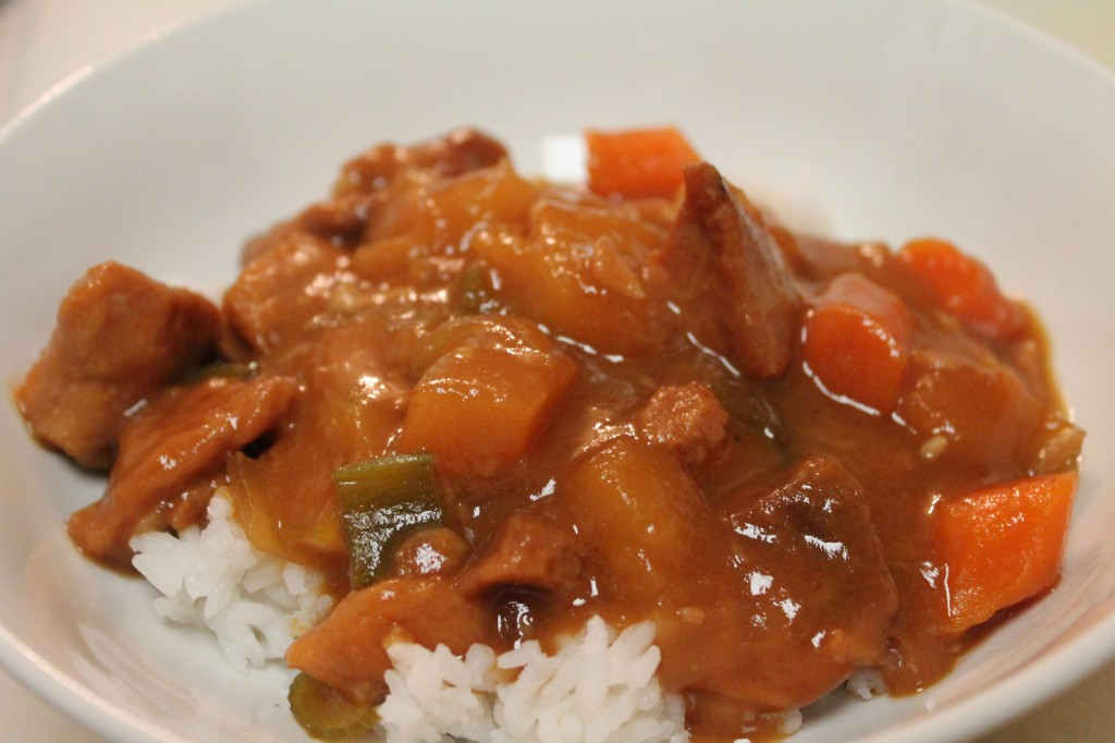 Tender Sweet and Sour Pork andflavorful veggies made in the Crock Pot