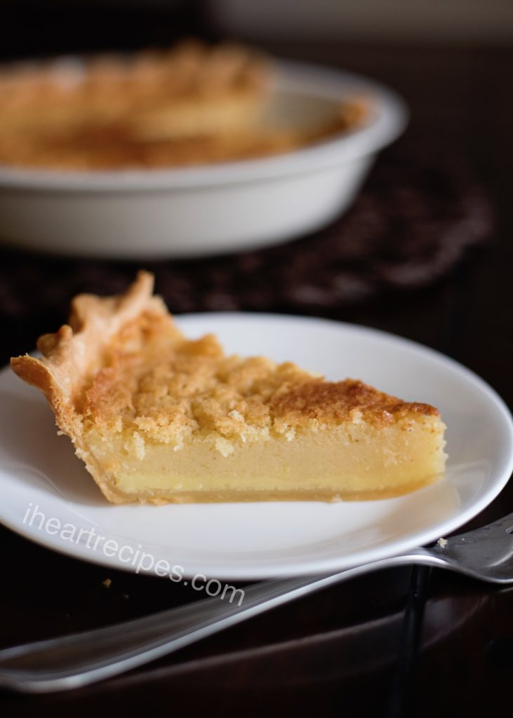 The sweet and creamy vanilla custard filling pairs perfectly with the flakey crust and sweet topping.