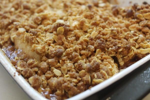 Crispy and sweet apple crisp is the perfect fall dessert