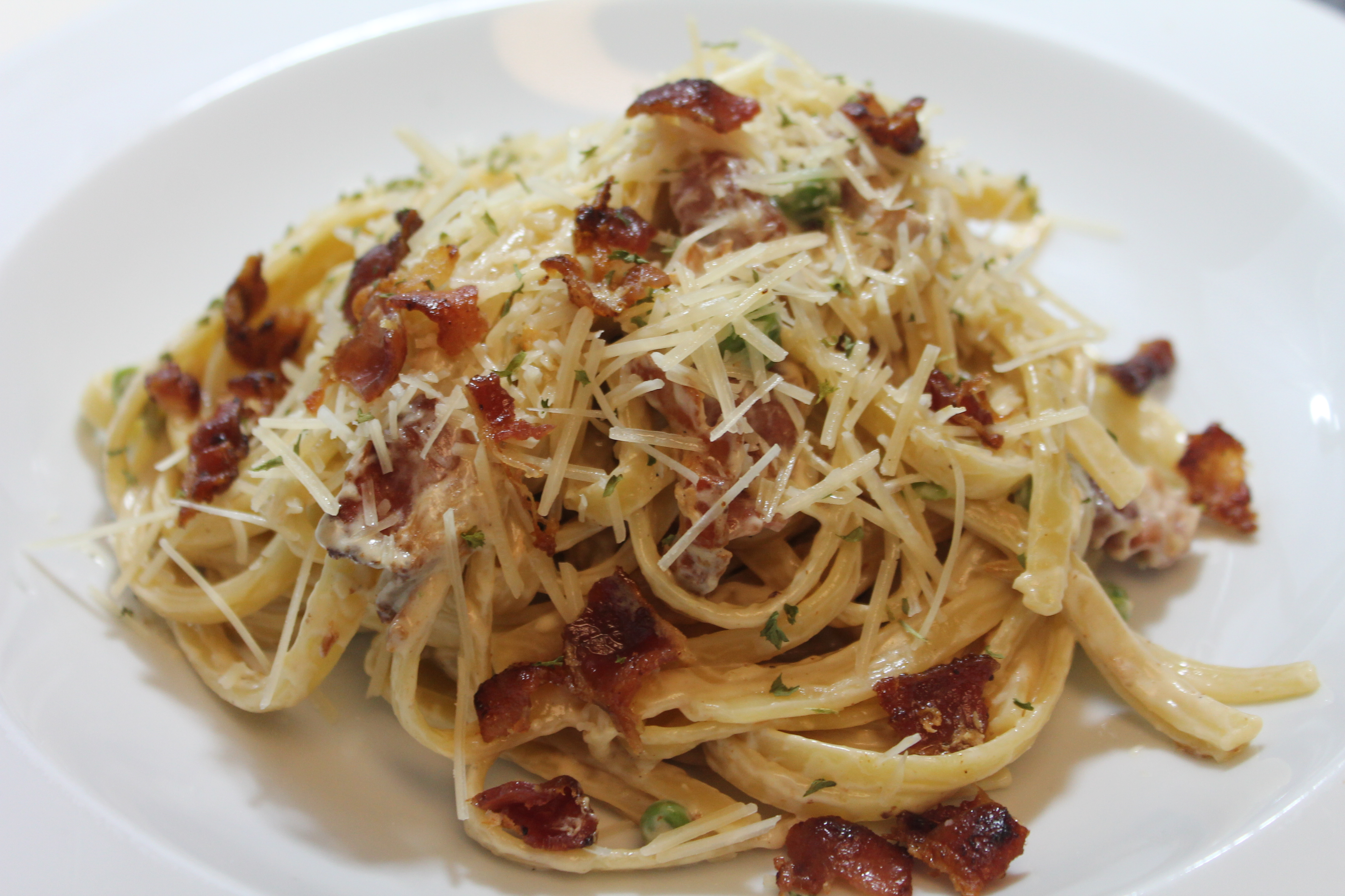 Fettuccine Alfredo Carbonara | I Heart Recipes