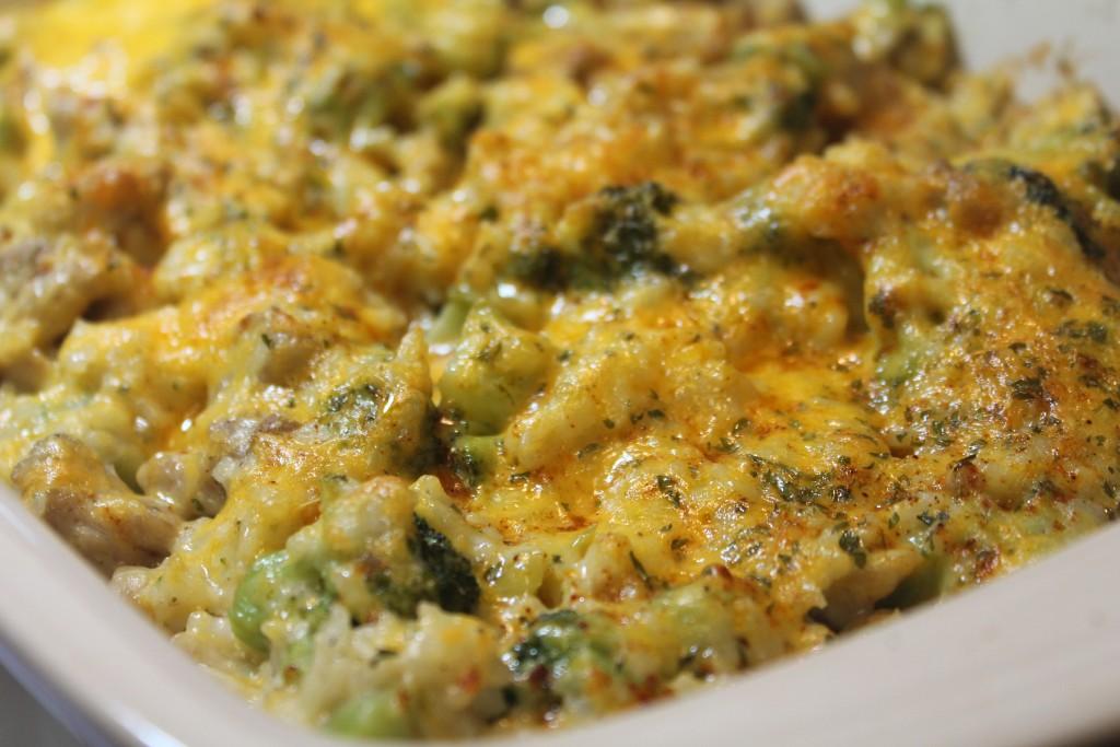 Cheesy Broccoli Amp Chicken Casserole I Heart Recipes
