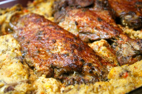 These Turkey wings have crisp skin and tender juicy meat.