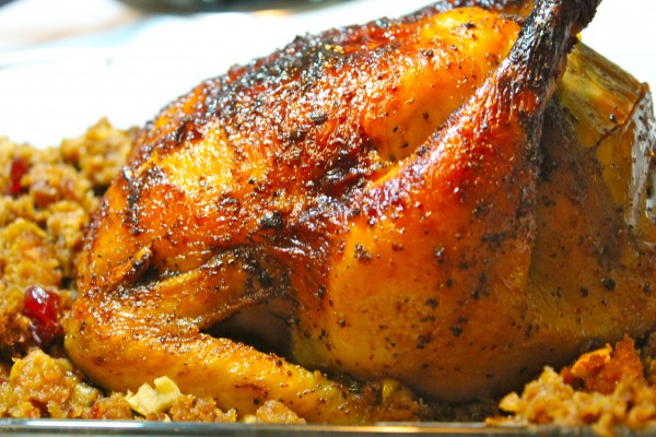 Apple-Glazed Roasted Chicken is juicy, tender and bursting with flavor!