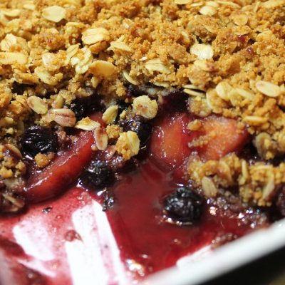 Peach Blueberry Cobbler Crisp