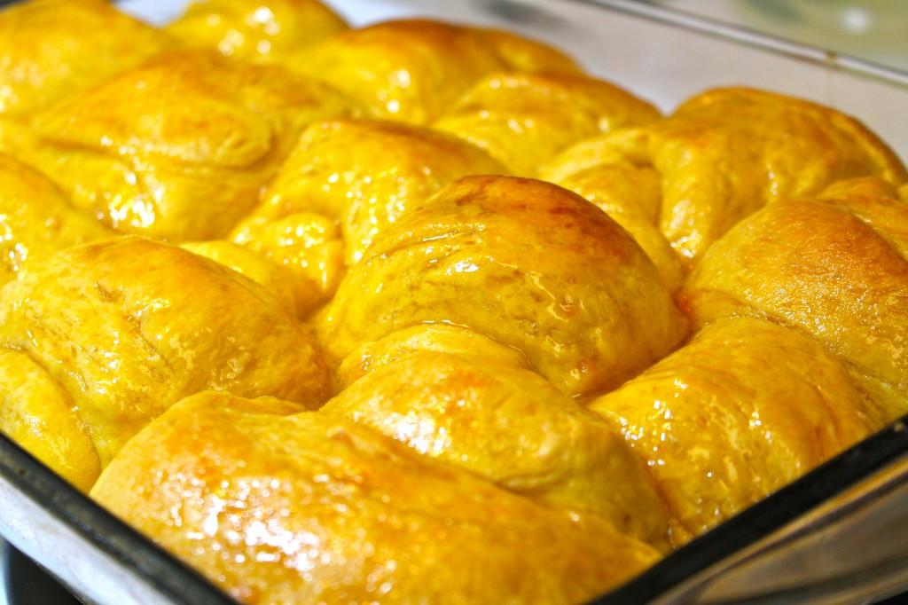 Moist and fluffy Honey Sweet Potato Dinner Rolls