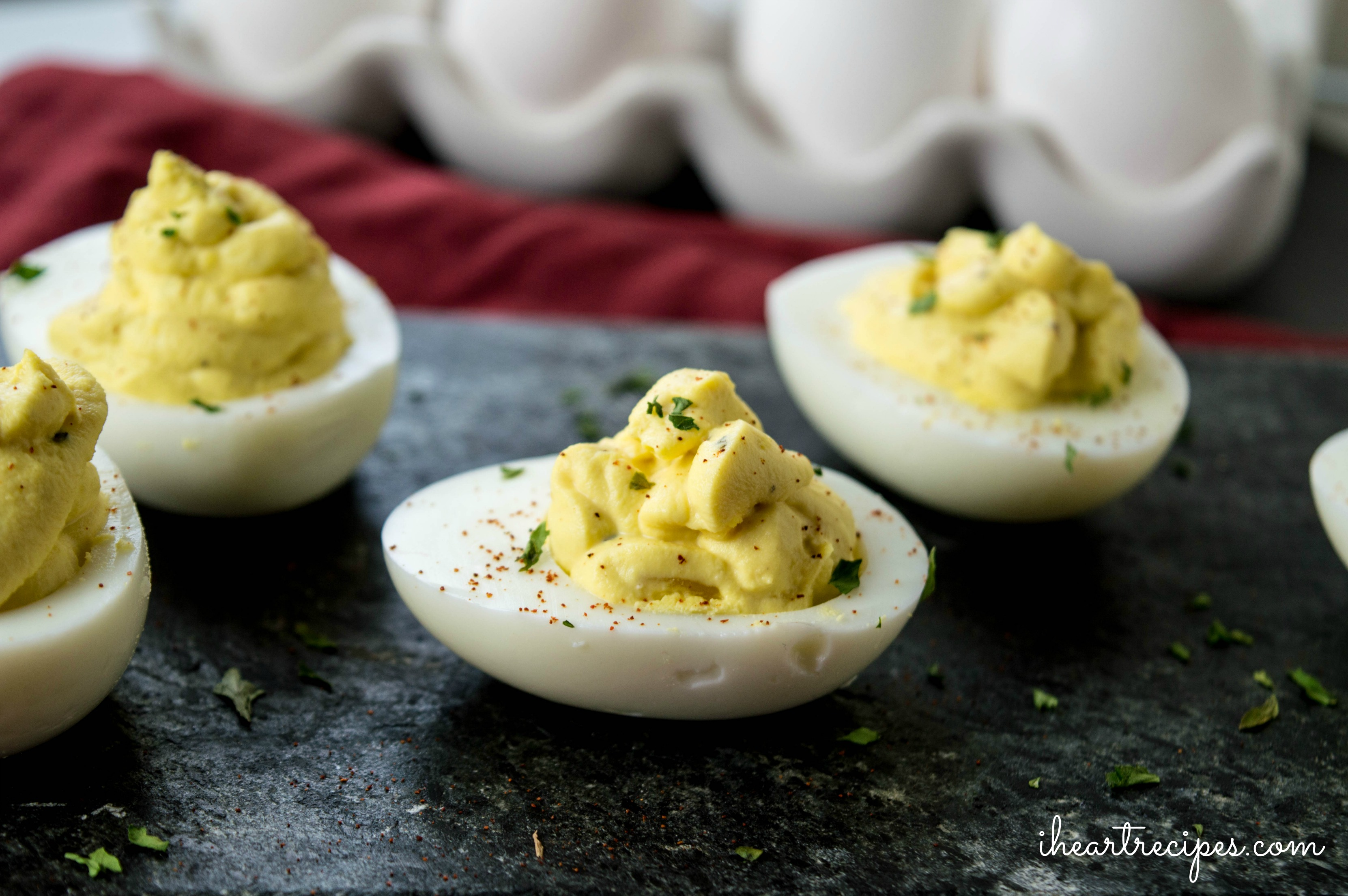 These simple deviled eggs are the perfect party appetizer.