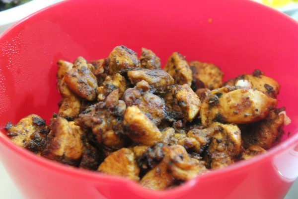 This sweet and spicy chicken will add a light extra kick to your grilled chicken burrito bowl