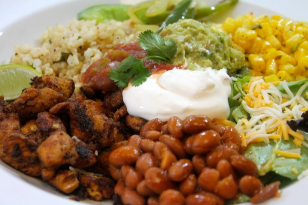 This copycat Chipotle grilled chicken burrito bowl is the homemade version of your fast food favorite