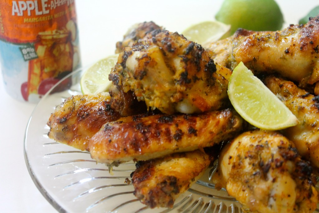 Baked Chicken Wings Seasoned with Lime Juice, Cilantro, and More!