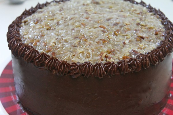 This german chocolate cake is is a chocolate lovers dream.