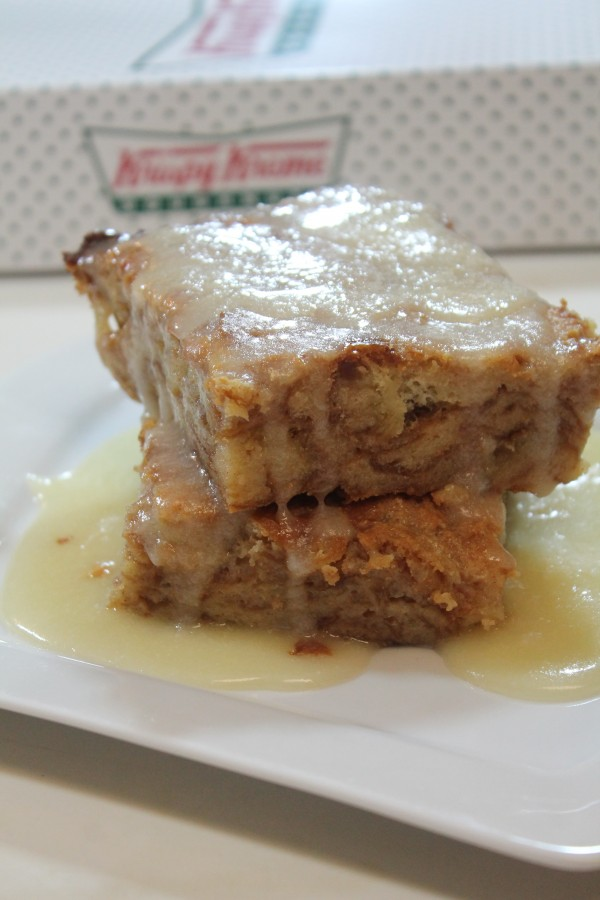 This Krispy Kreme bread pudding takes leftover Krispy Kreme donuts and transforms them into a sweet bread pudding for the ultimate dessert.