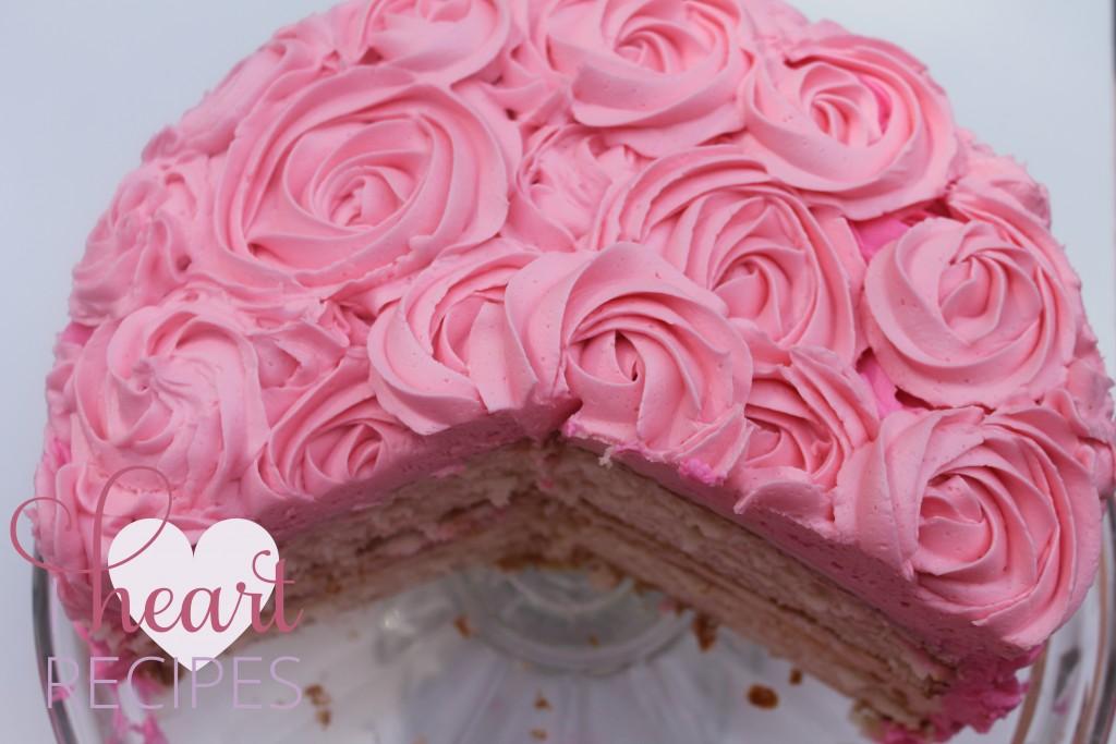 Vanilla Rose Swirl Cake