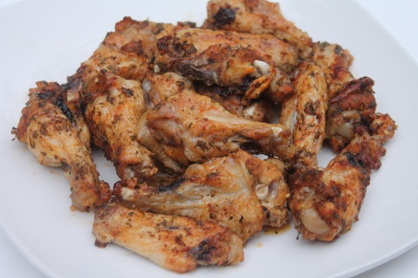 Baked garlic and onion wings