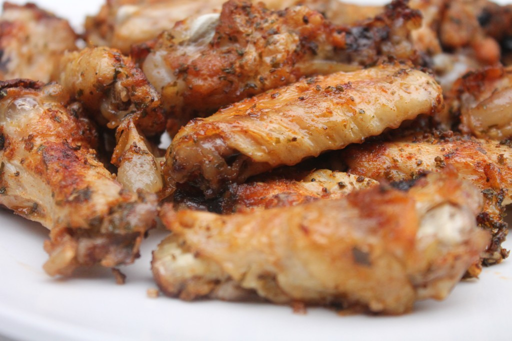 Easy and tasty garlic and onion wings
