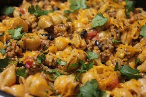 Cheesy Southwest Pasta Skillet 1