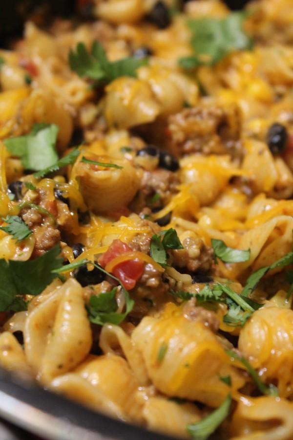 Cheesy Southwest Pasta Skillet 2