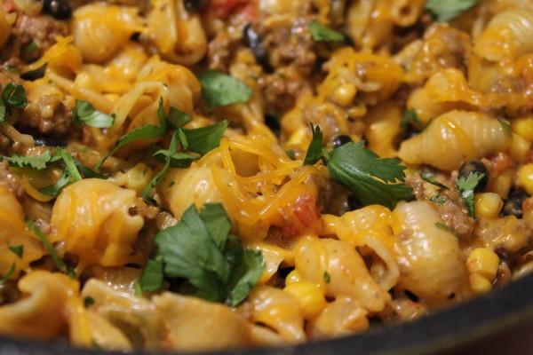 Cheesy Southwestern Pasta Skillet