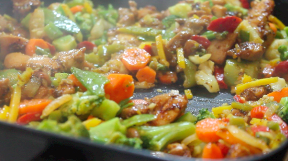 Use chicken thighs or chicken breasts, either way this Honey Chicken and Vegetable Stir Fry will be delicious!