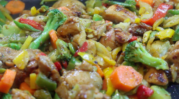 Using frozen vegetables just adds to the simplicity of this stir fry!