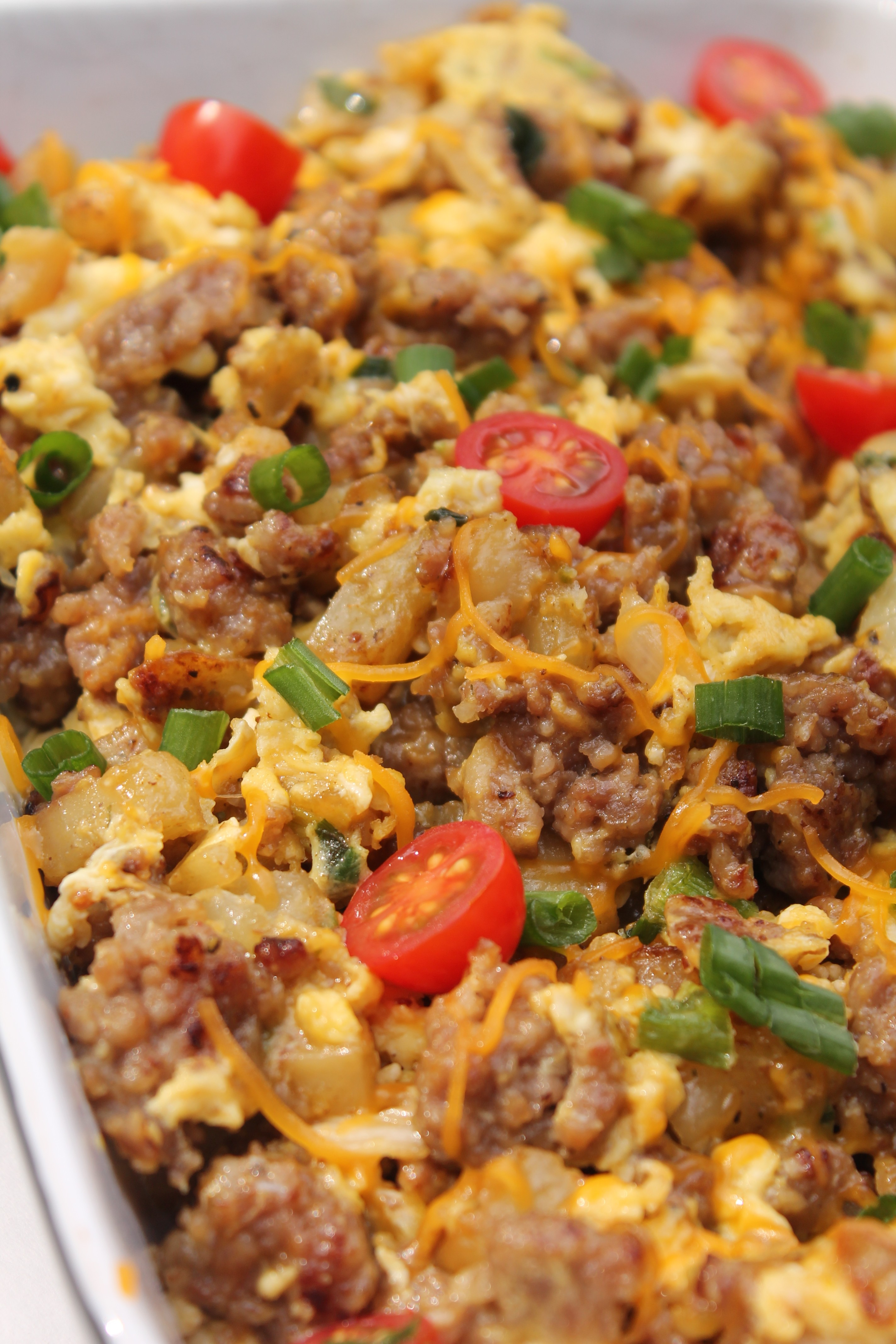 Breakfast Sausage Potato And Egg Scramble