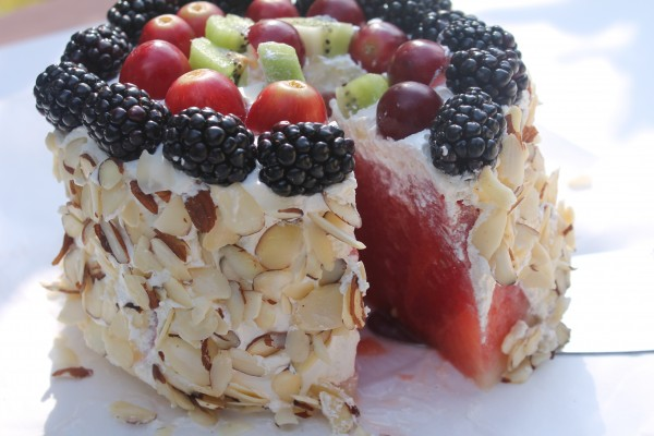 When it's too hot to bake, serve this heavenly Fresh Watermelon Cake!