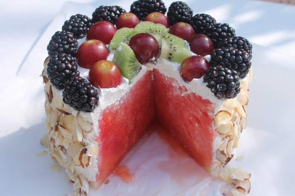 This Fresh Watermelon Cake is refreshing and sweet!