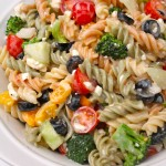 The Best Creamy Italian Pasta Salad