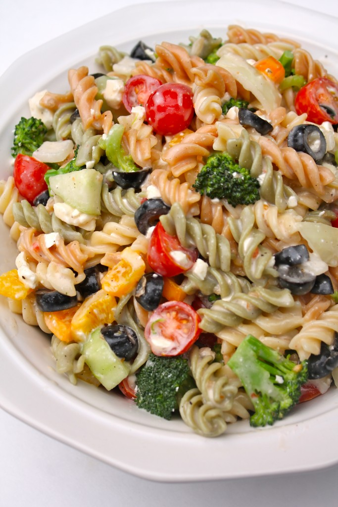 Serve this Best Creamy Italian Pasta Salad at your next cookout. It will steal the show!