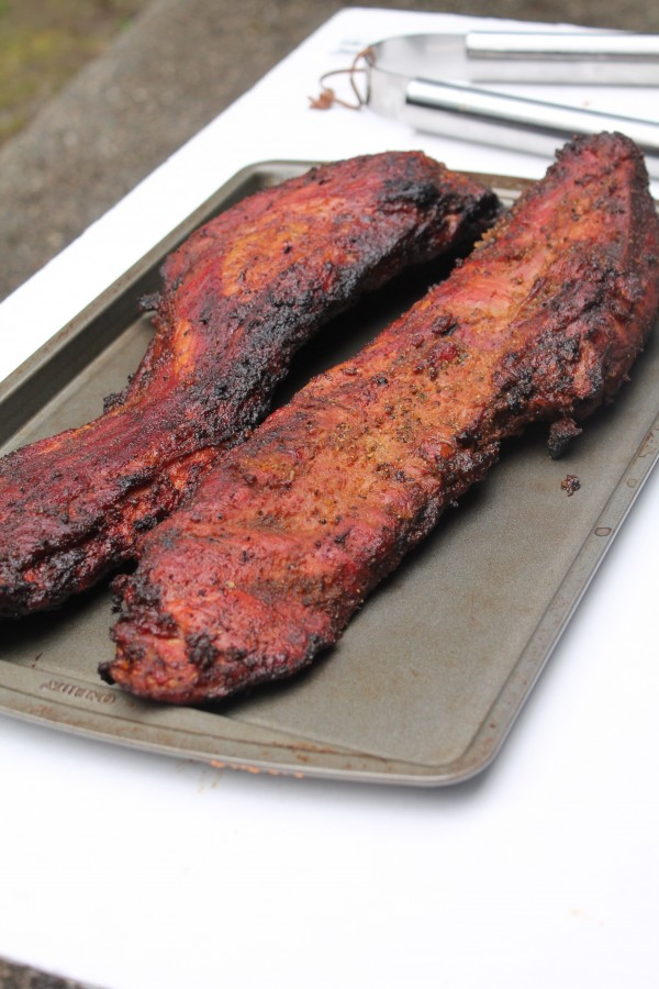 Perfectly grilled smoked pork ribs are the key to this BBQ rib tips recipe