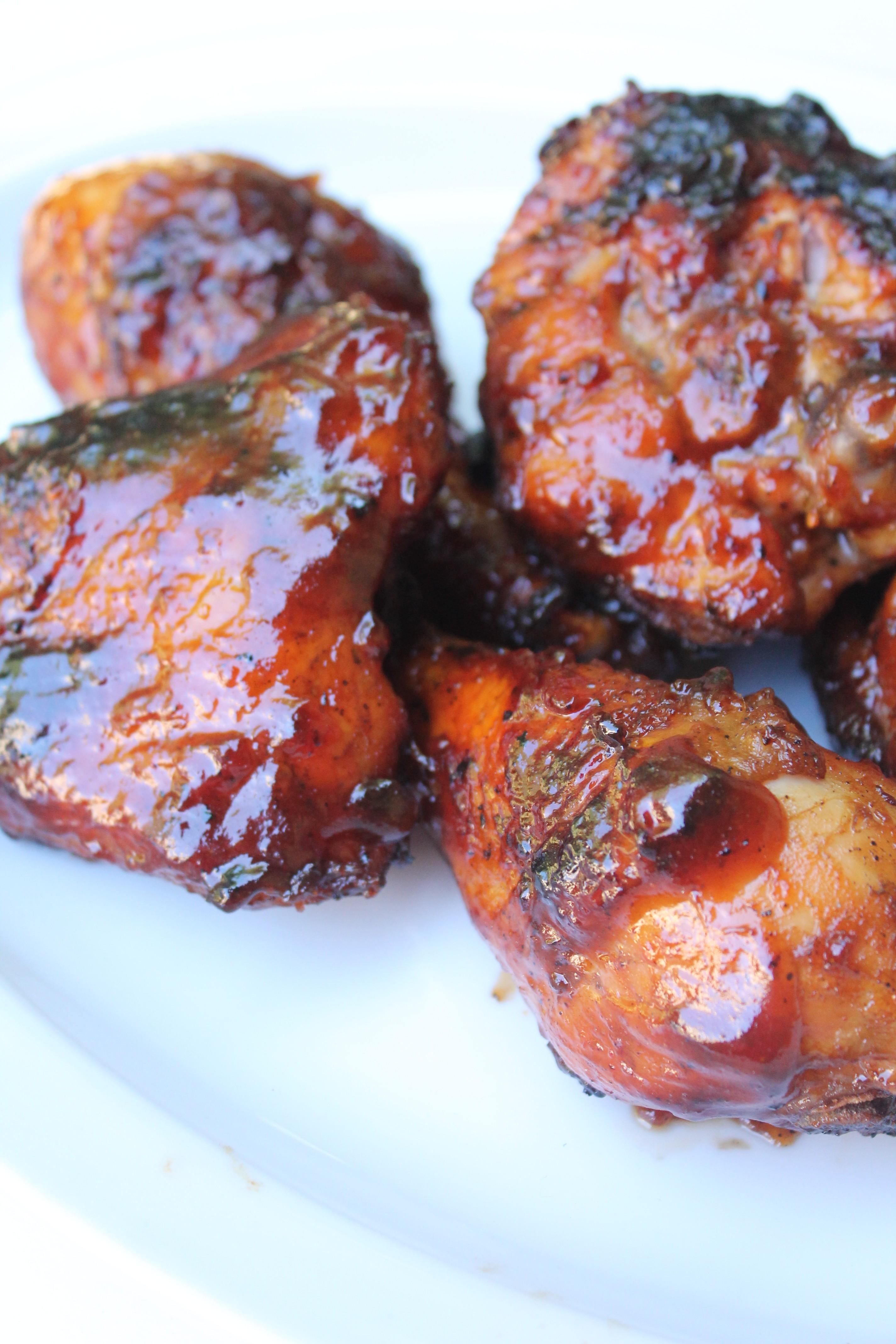 Hickory Smoked Barbecue Chicken Recipe I Heart Recipes