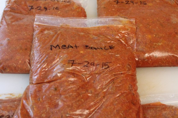 You can make this meat sauce in large batches and freeze for later use - super easy!