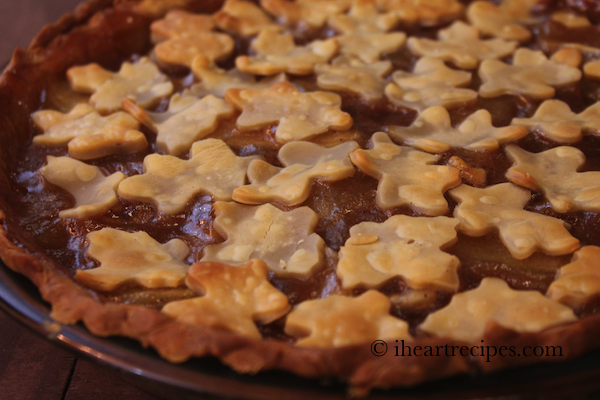 Festive apple cobbler