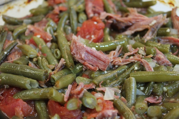 green beans and smoked turkey