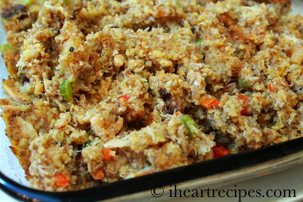 Seafood Cornbread Dressing | I Heart Recipes