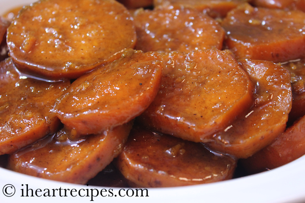 These baked candied yams are a tasty side dish for the holidays.