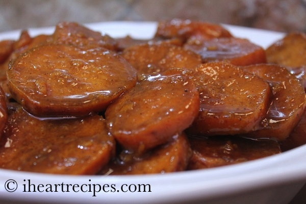 Enjoy these tender, sweet, southern-style baked yams from Iheartrecipes.com.