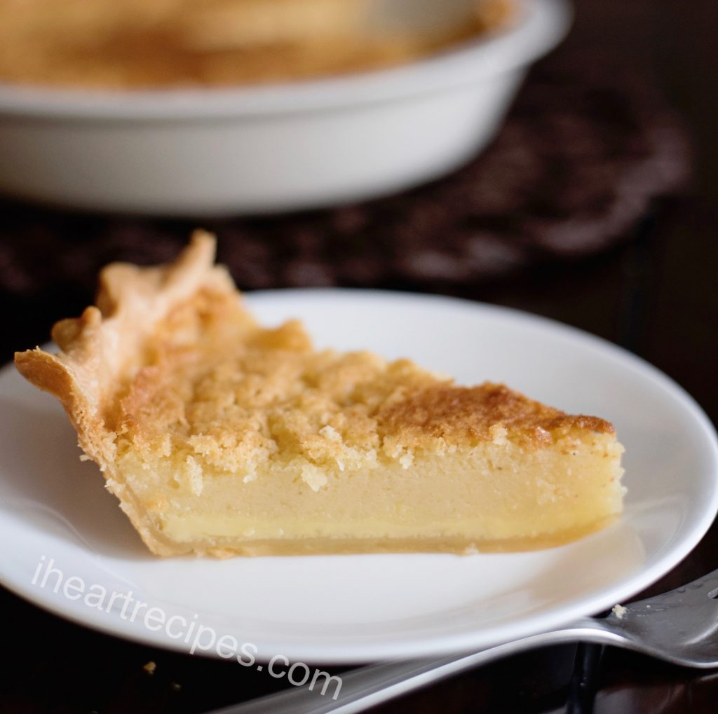 Old Fashioned Buttermilk Pie | I Heart Recipes