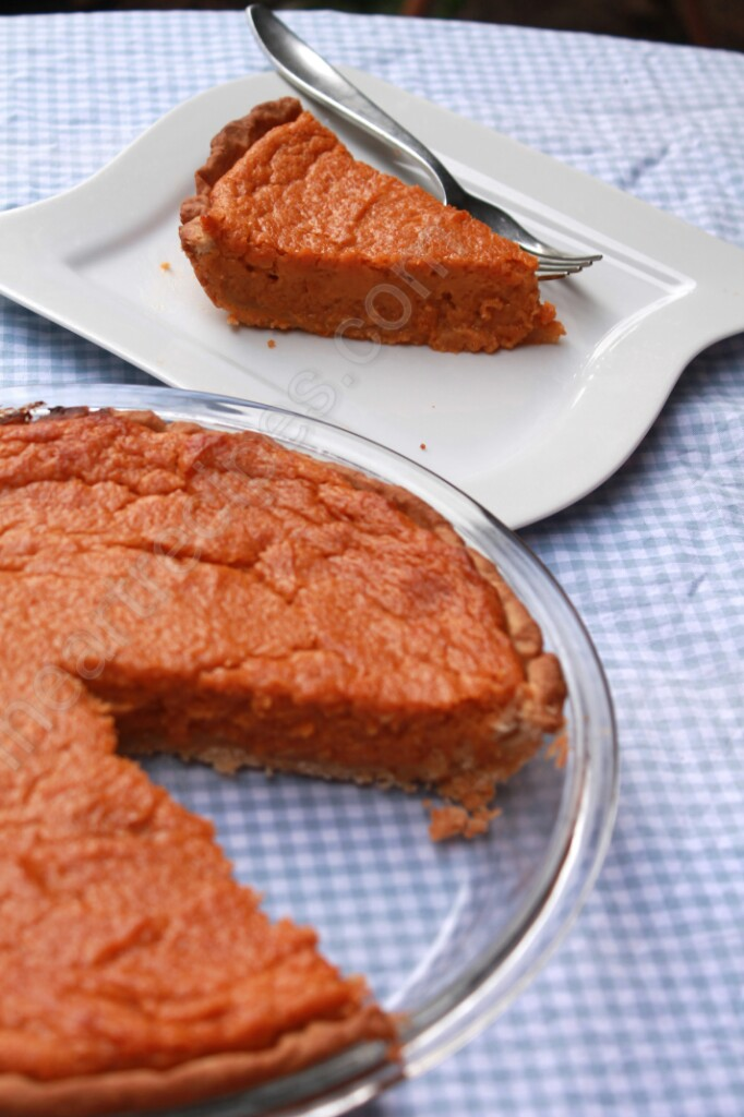 Yams can bring out a brighter color and flavor profile when baking the pie.