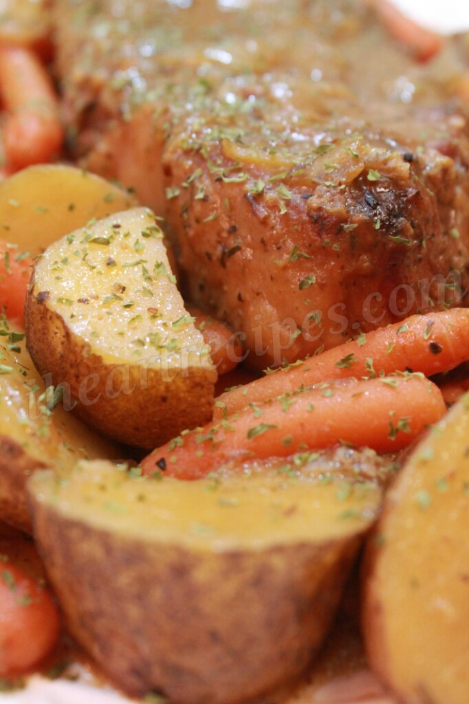 Tender potatoes and carrots paired with a delicious beef roast.