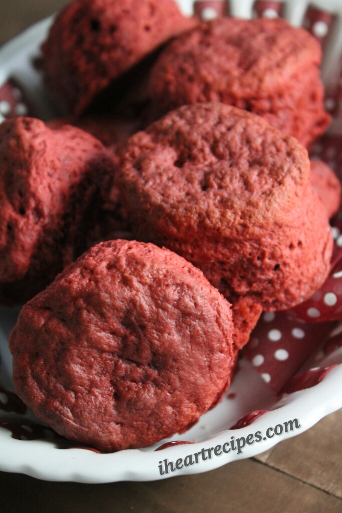 Red Velvet Biscuit | I Heart Recipes